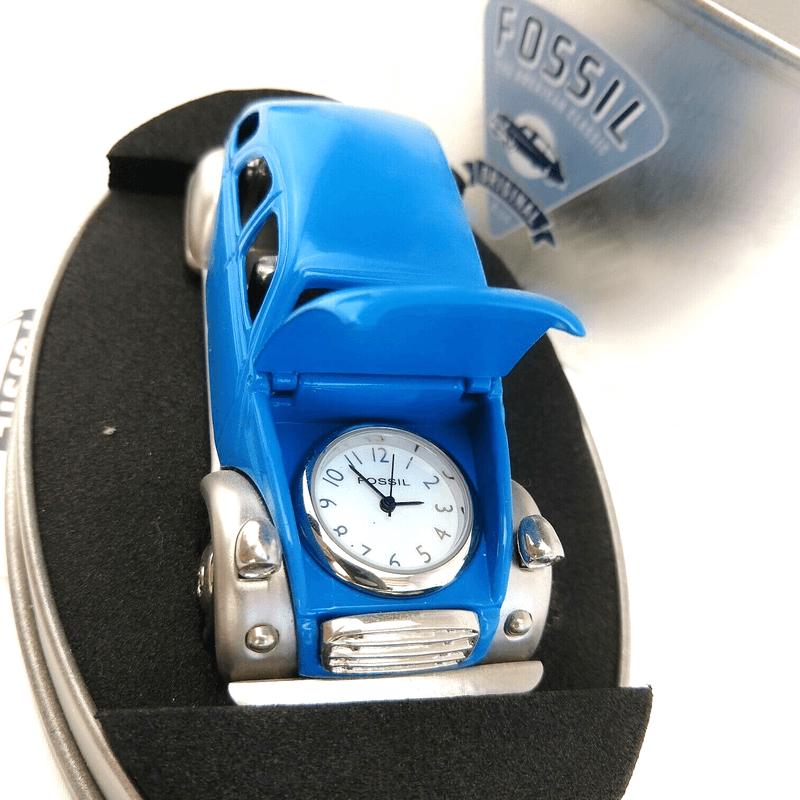 Fossil Brand Antique Foxy Beetle Car Clock - Metal