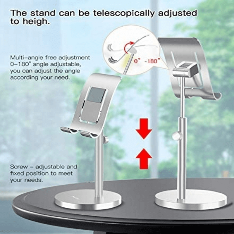 YESIDO C69/70 Aluminum Metal Mobile Phone And Tablet Table Stand