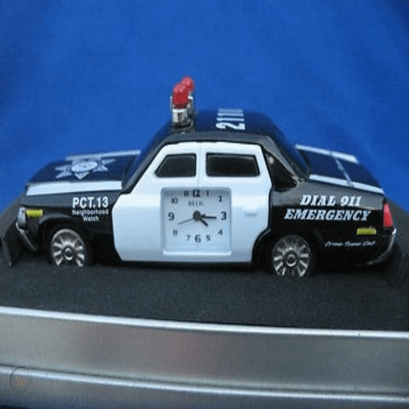 fossil-brand-antique-police-car-clock-metal-black