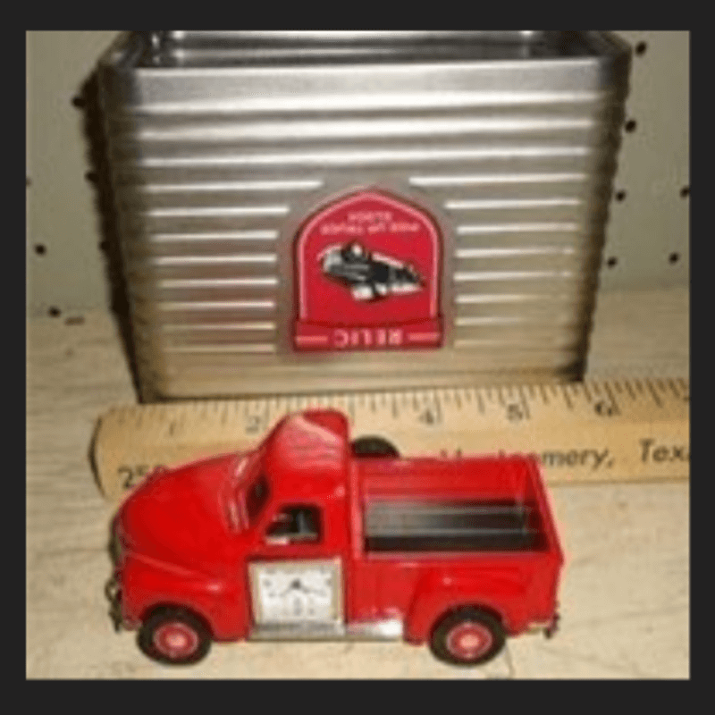 relic-brand-antique-dump-truck-clock-metal