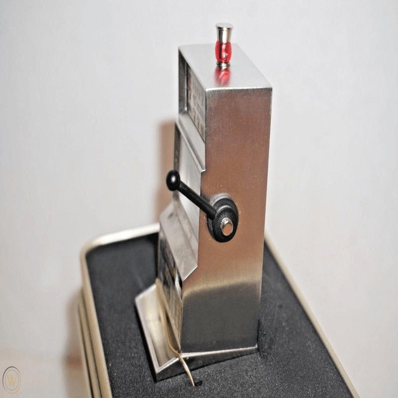 Fossil Brand Antique Slot Machine Clock - Metal Black