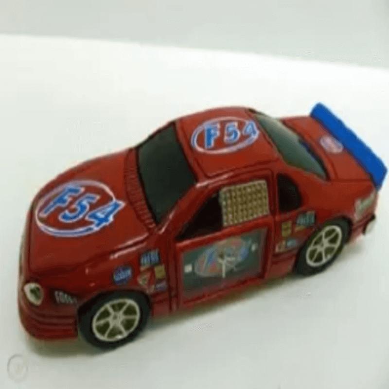 Fossil Brand Antique Sports Car Clock - Metal