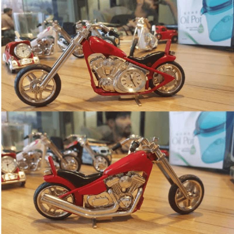 fossil-brand-antique-chopper-bike-clock-metal-red