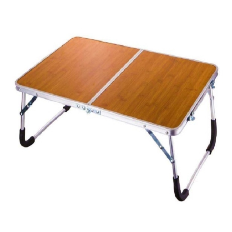 foldable-aluminium-indoor-bed-study-table-wood-brown