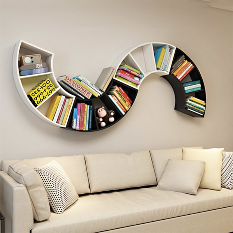 Infinity Shapes Wooden Wall Book Shelves