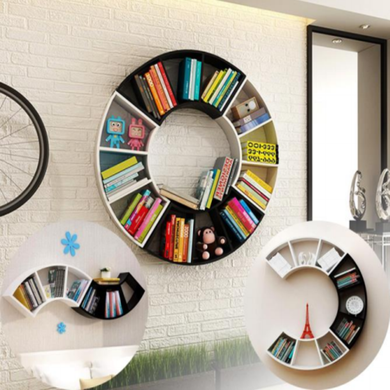 infinity-shapes-wooden-wall-book-shelves