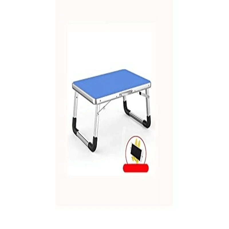 Foldable Aluminium Indoor/Bed/Study Table - Blue