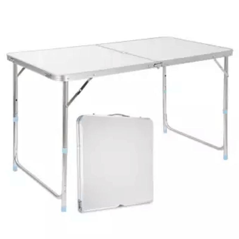 Foldable Aluminium Outdoor Table – Silver