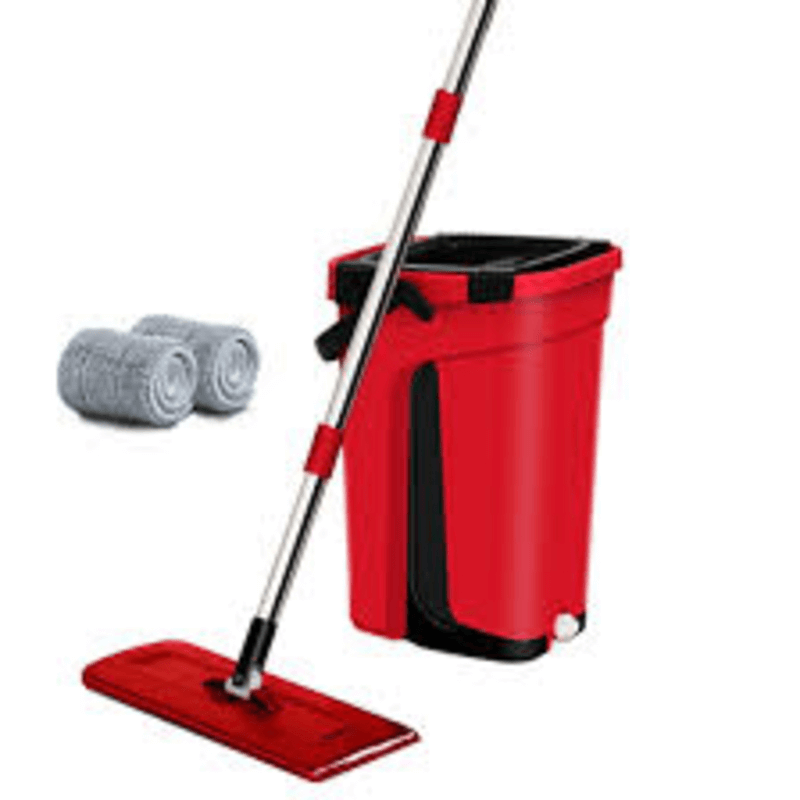 2 in 1 Mop Self Wash and Squeeze Dry Flat Mop With Bucket