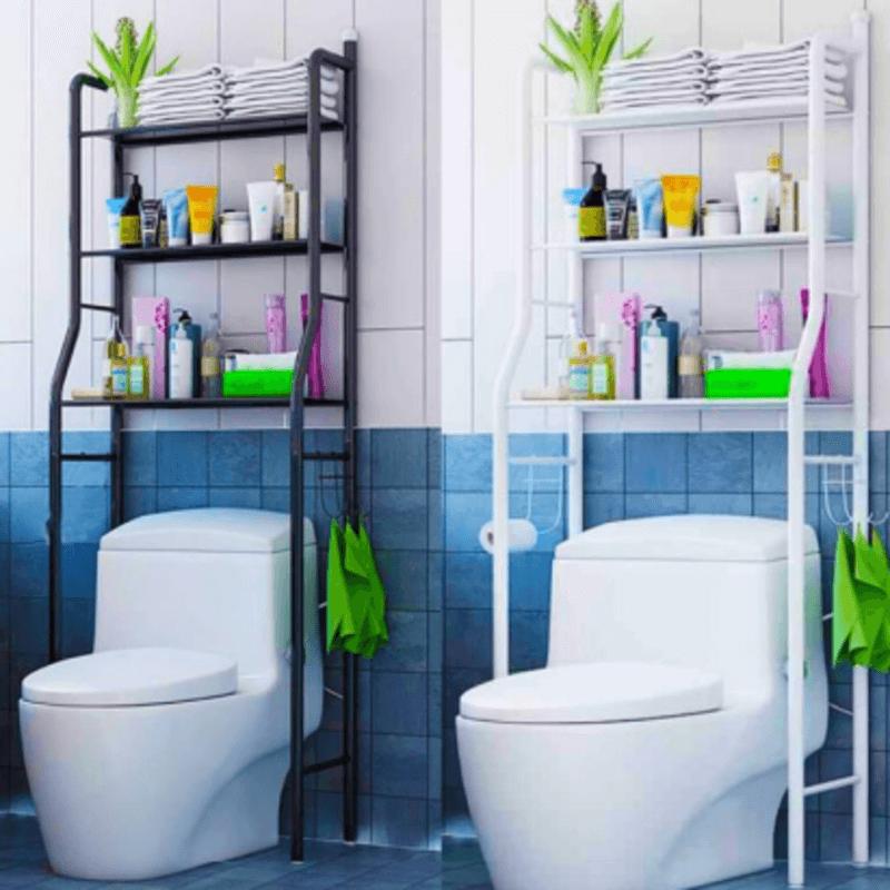 over-the-toilet-3-shelf-metal-storage-cabinet-black-white