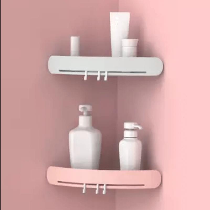 Triangular Corner Storage Shelves For Bathroom
