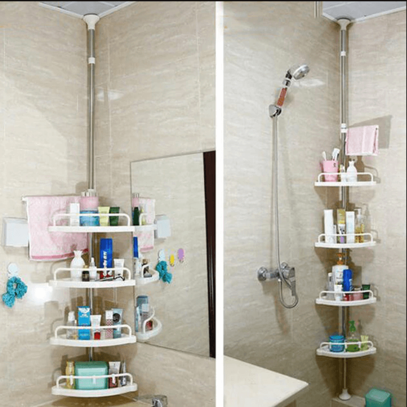 4 Tier Triangle Corner Bathroom Shelf