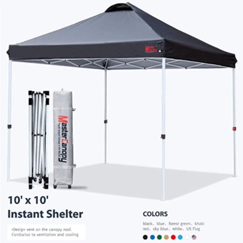 Outdoor Portable Pop Up Canopy Tent (Black)