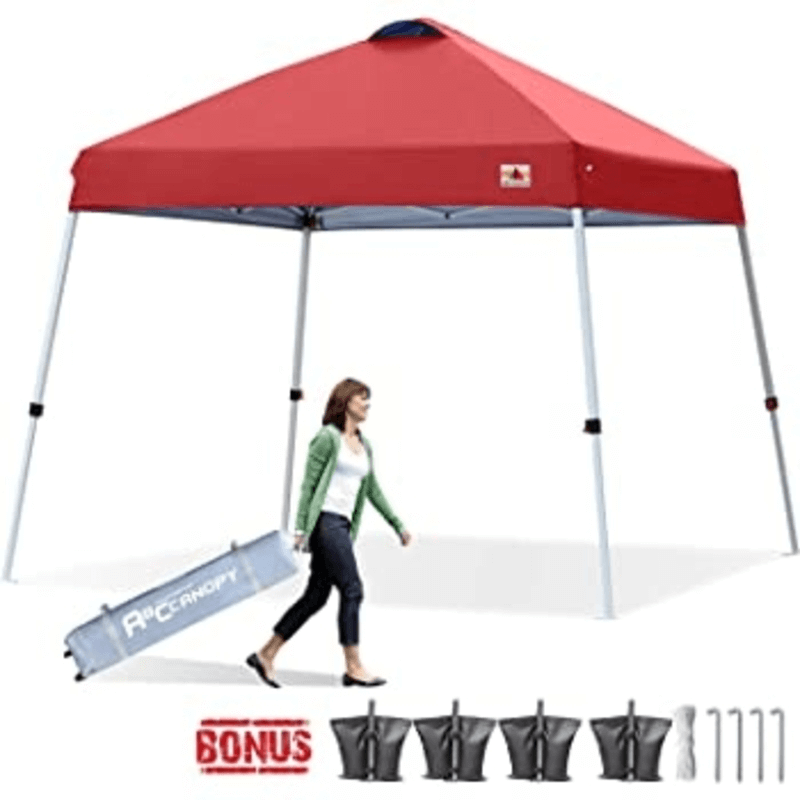 Outdoor Portable Pop Up Canopy Tent (Red)