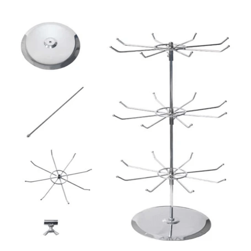 3 Layers Rotating Jewelry stand (Metal)