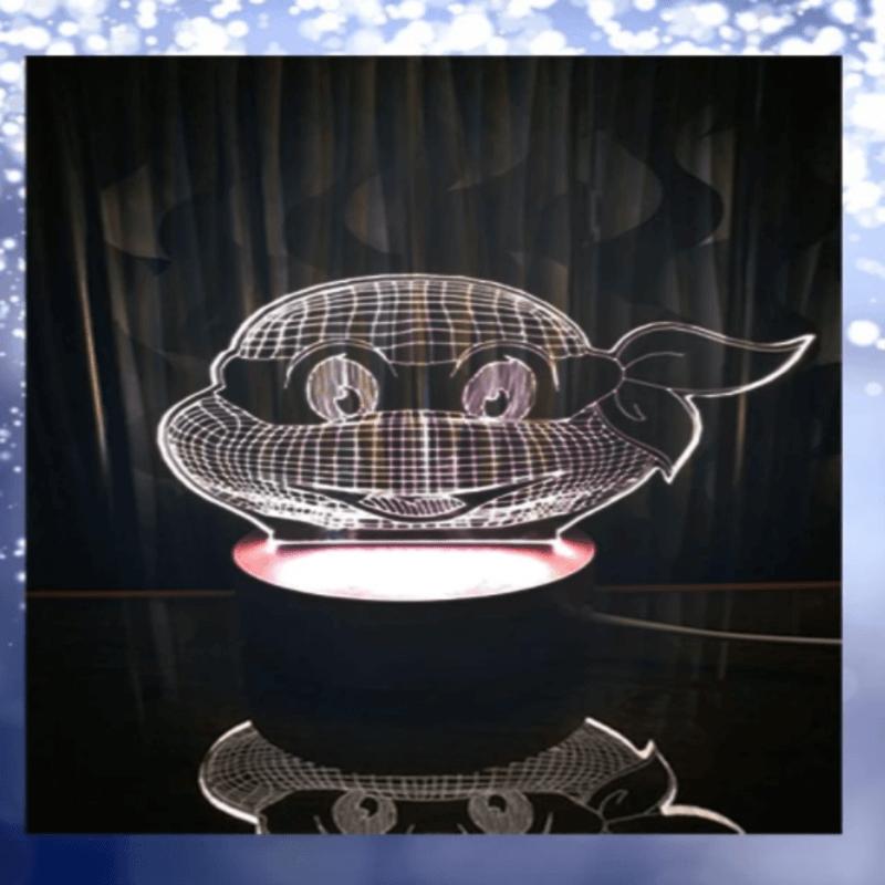 Ninja Turtle 3D Acrylic Lamp