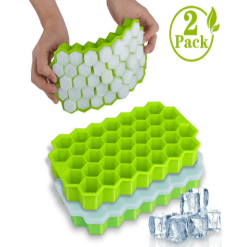 Reusable Silicone Ice Honeycomb Cube Molds (2 Pack)