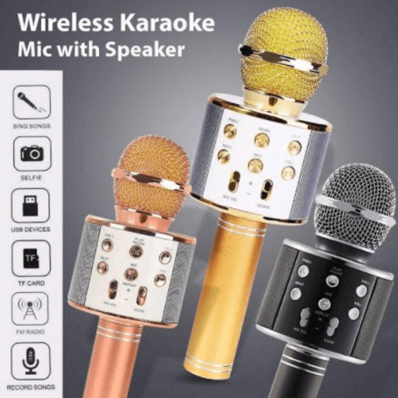 Wireless Karaoke Mic with Speaker
