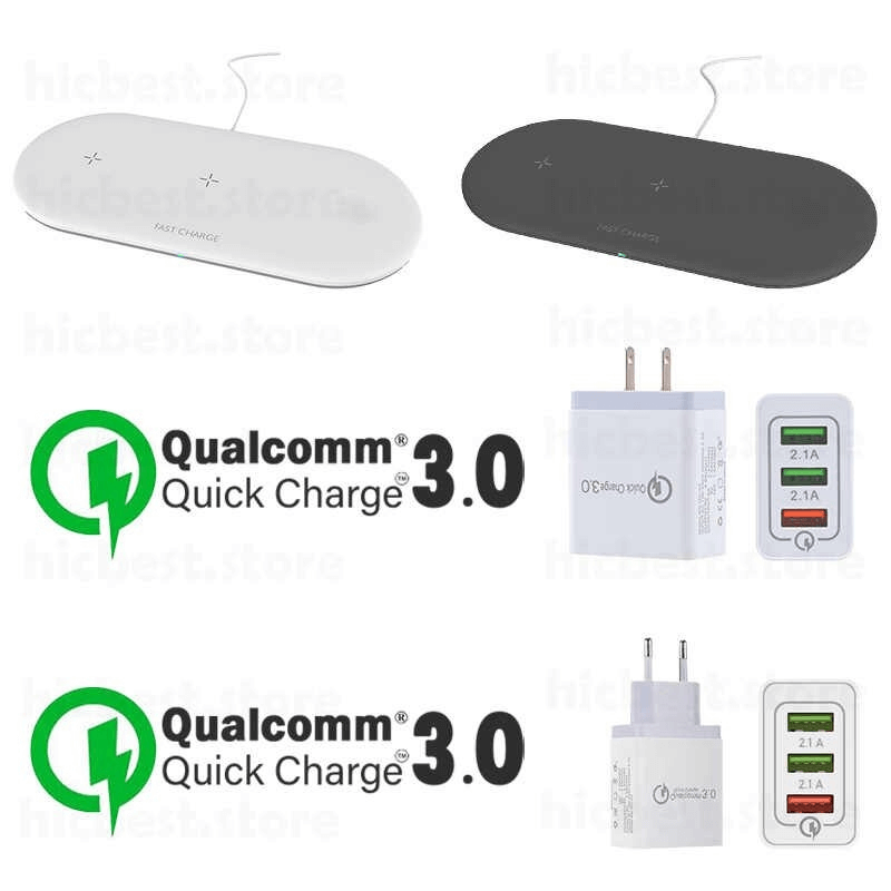 3 in 1 Wireless Charging Charger Pad