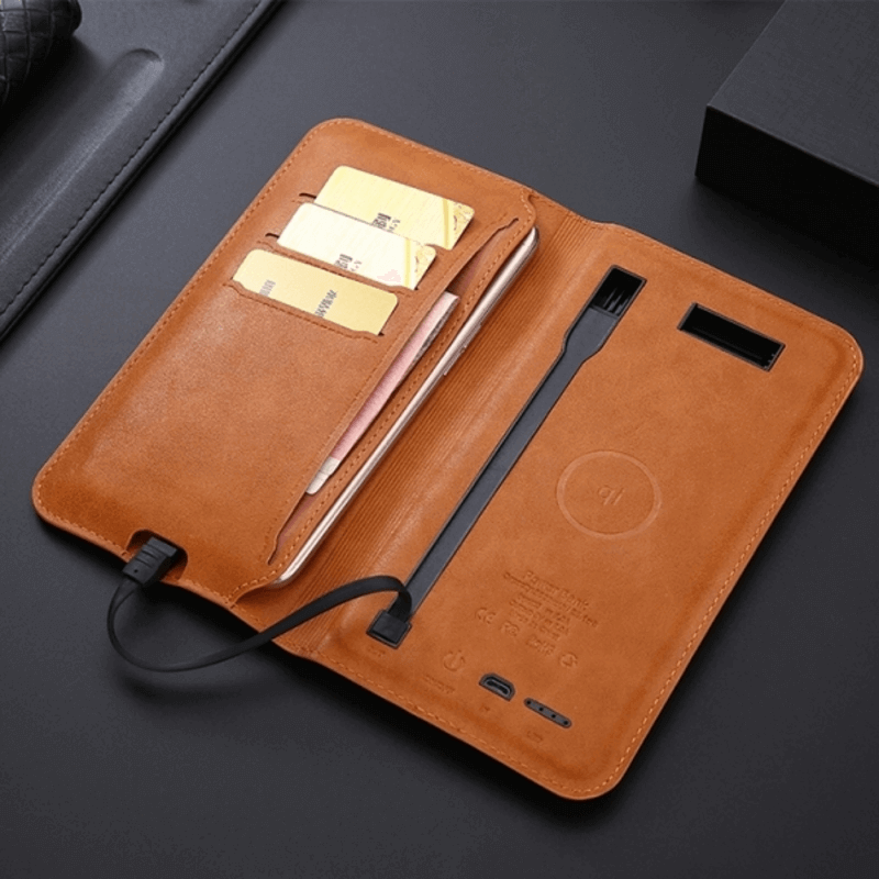 custom-PU-leather-wallet-wireless-charger-power-banks-5200mah