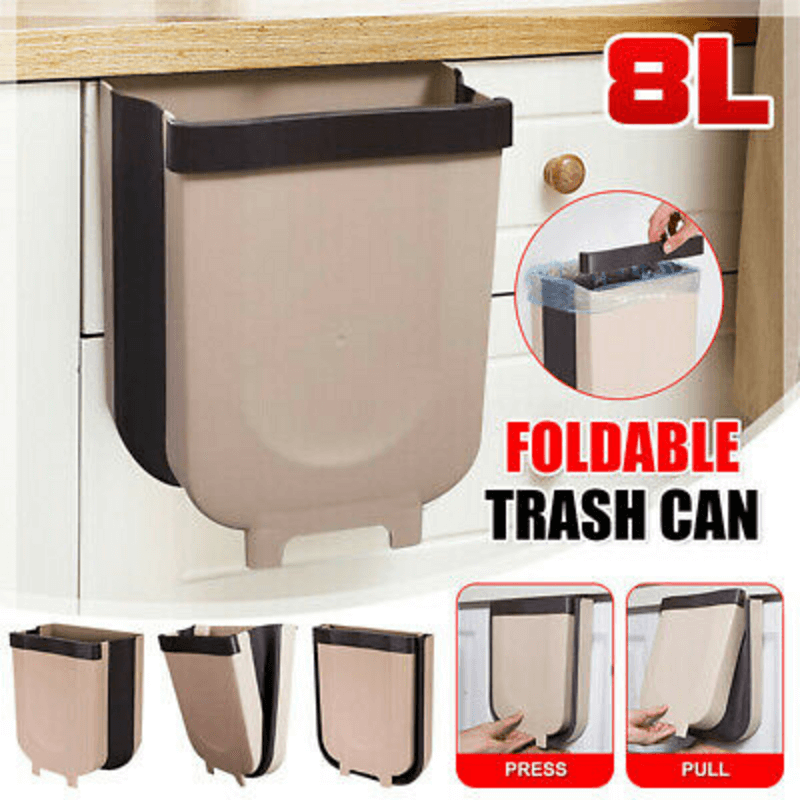 Wall Mounted Folding Hanging Trash Can