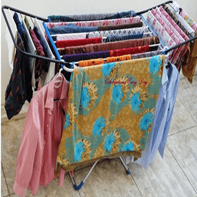 Stainless Steel Foldable Clothes Stand for Drying Clothes Steel