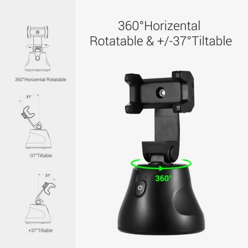 360°Rotation Auto Face Tracking Smart Shooting Phone Holder