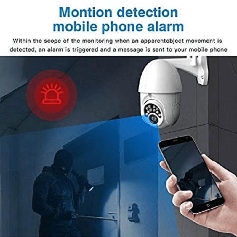 2MP Outdoor/Indoor PTZ Double Antenna WiFi Camera with Colored Night Vision