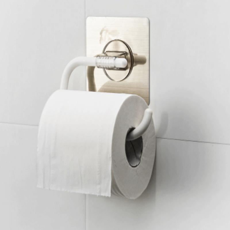 Magic Sticker Towel Rack & Roll Paper