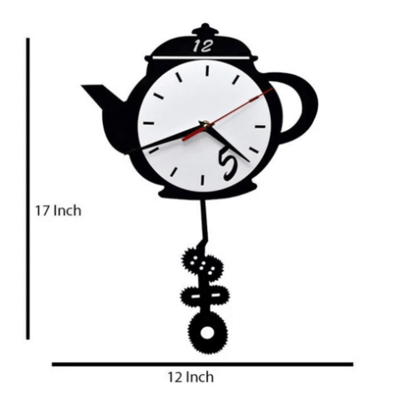 Tea Kettle Shaped Wall Clock