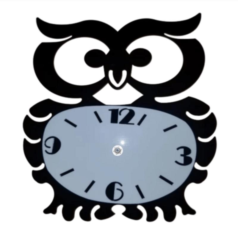 owl-shaped-wal-clock