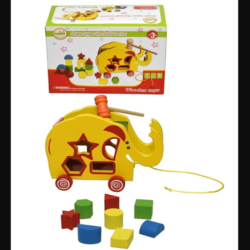 The Ball Tractor Wooden Toy