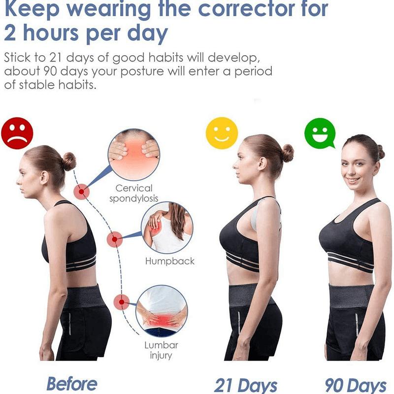 Posture Corrector with Intelligent Sensor Vibration Reminder