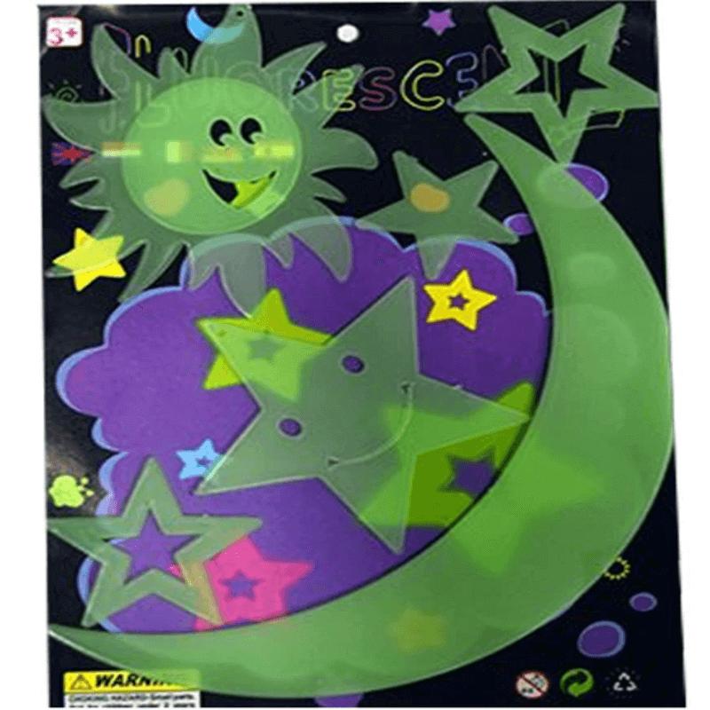 3 Packs- Night Glowing Magic Sun, Moon, Stars for Kids Rooms