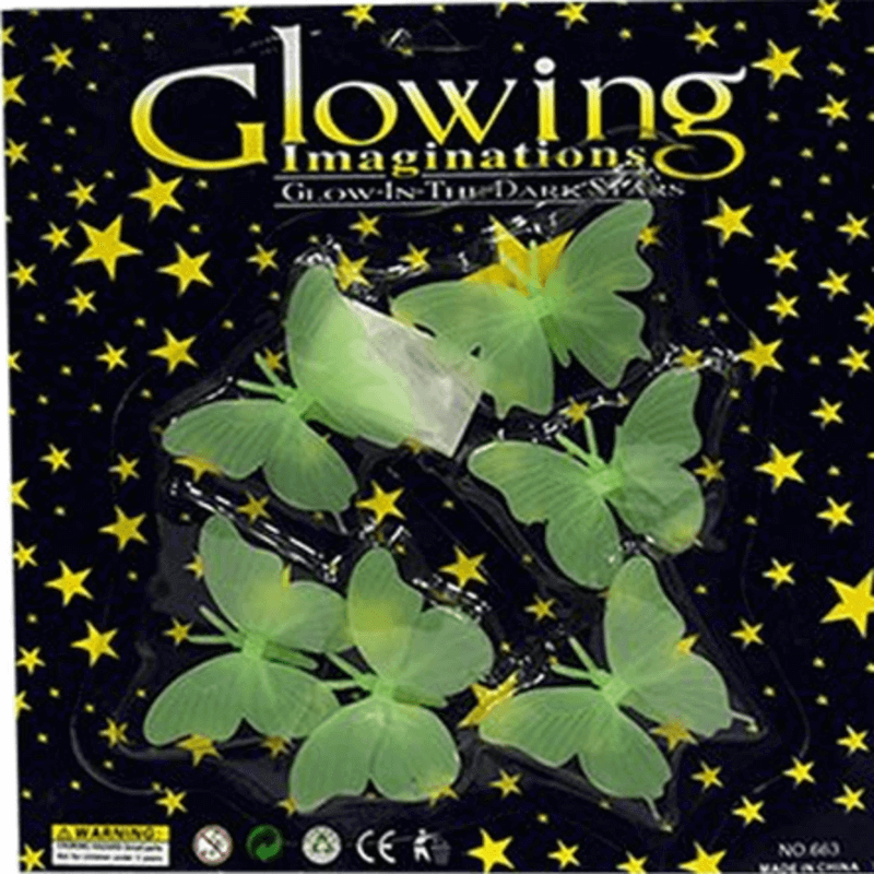 Set of 3 Packs - Night Glowing Magic Butterflies for Kids Rooms