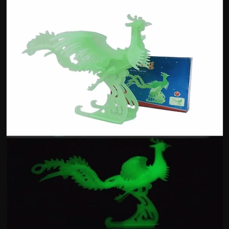 3D Jigsaw Luminous Peacock Puzzle - Educational Assembling Toy