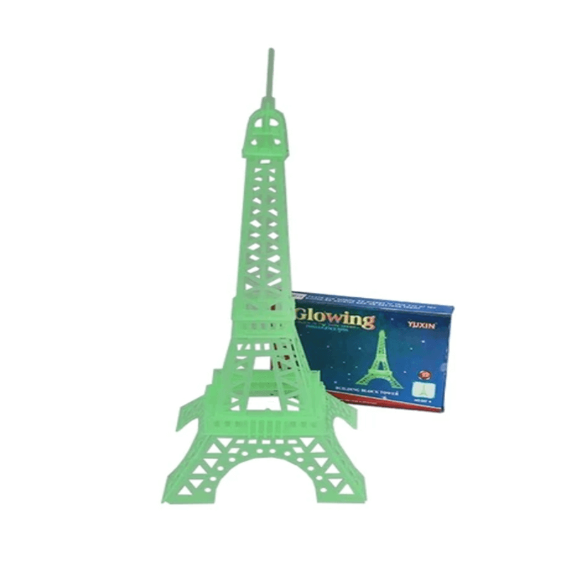 Glow in Dark Radium 3D Jigsaw Luminous Eiffel Tower Puzzle - Educational Assembling Toy