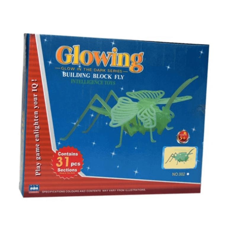 3D Jigsaw Luminous Grass Hopper Puzzle - Educational Assembling Toy