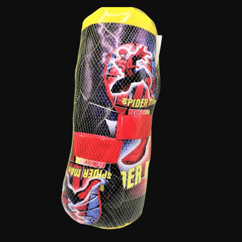 Spiderman Punching Bag with Boxing Gloves for Kids