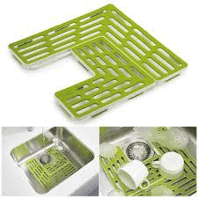 plastic-drain-shelf-for-sink-and-kitchen-table-top-green