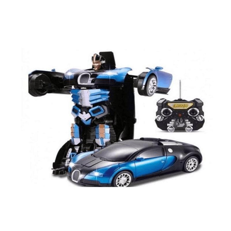 RC Bugatti Transformer Car Robot Toy for Kids