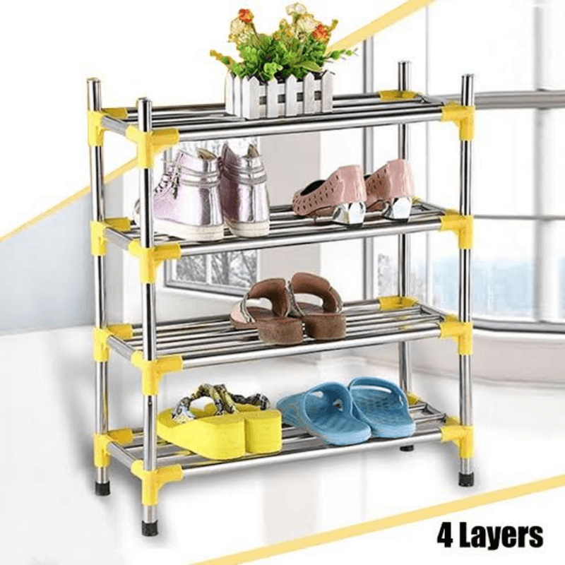 stainless-steel-simple-fashion-4-tier-shoe-rack