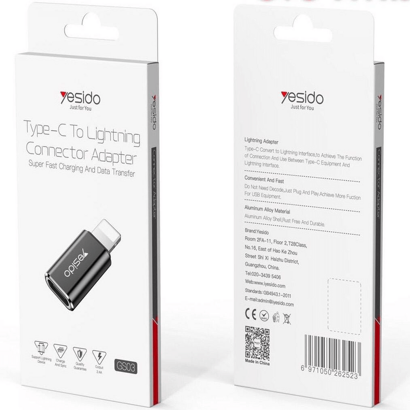 Yesido adapter Type-C to Micro/USB data cable (GS03)