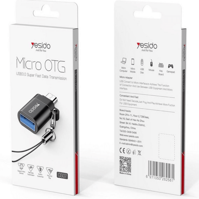 Yesido OTG Adapter Type-C Android Two-in-One USB Converter (GS07)