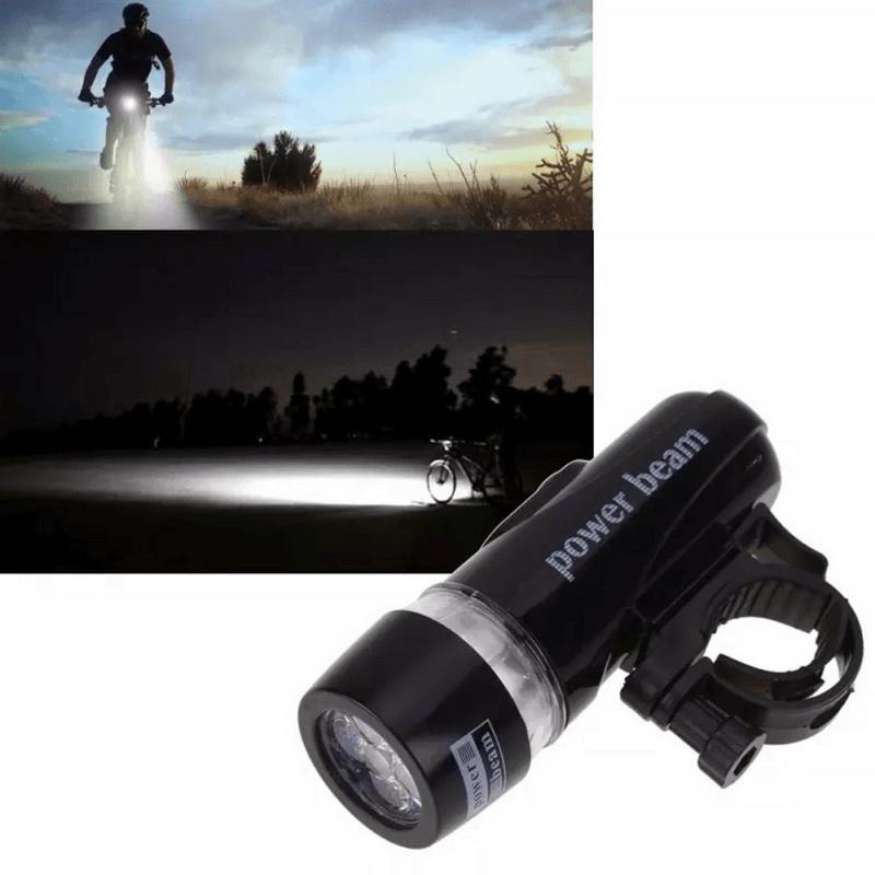 5-LED-torch-flash-light-black-bicycle