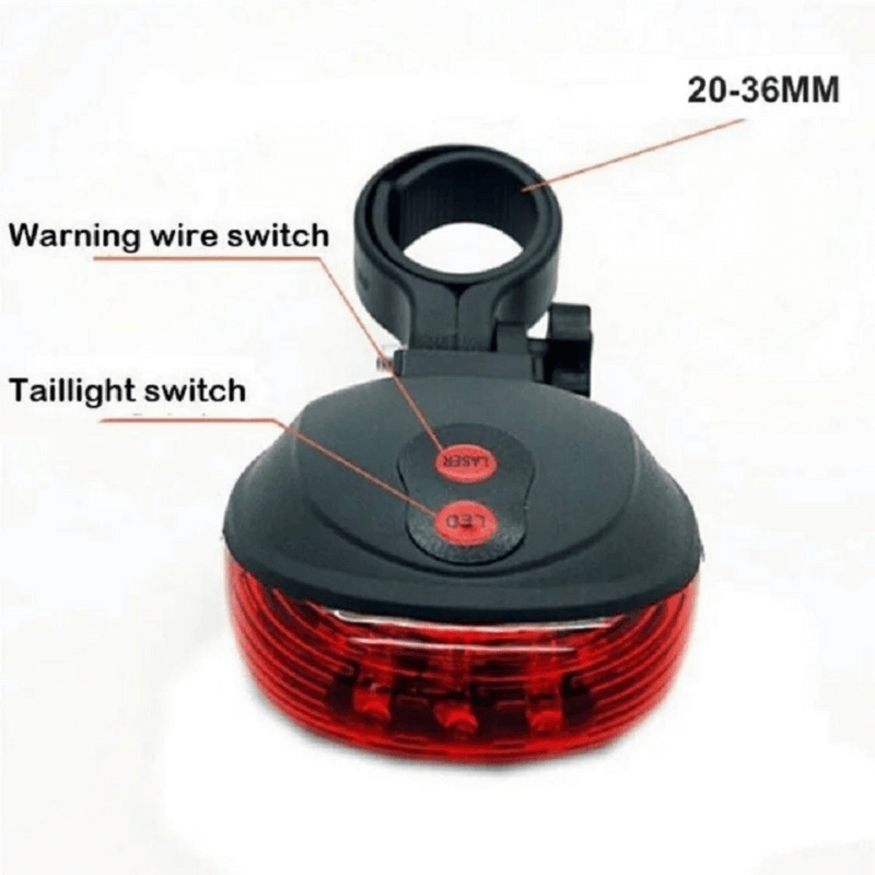 Waterproof Bicycle Light 5LED+2Laser Rear Tail Light