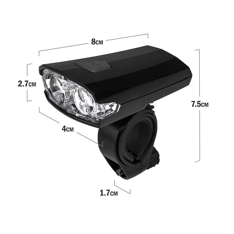 Waterproof Super Bright Bicycle 2 LED Front Light