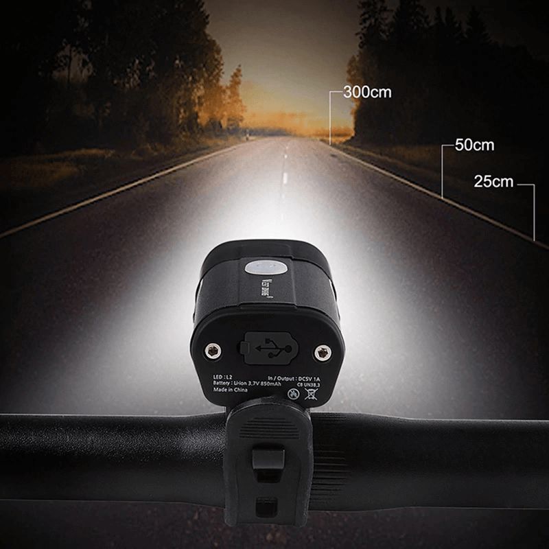 West Biking Rechargeable 5 Modes Bicycle Front Light