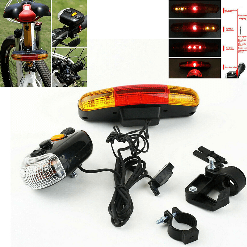 7 LED Bicycle Turn Signal Directional Brake Light With Horn