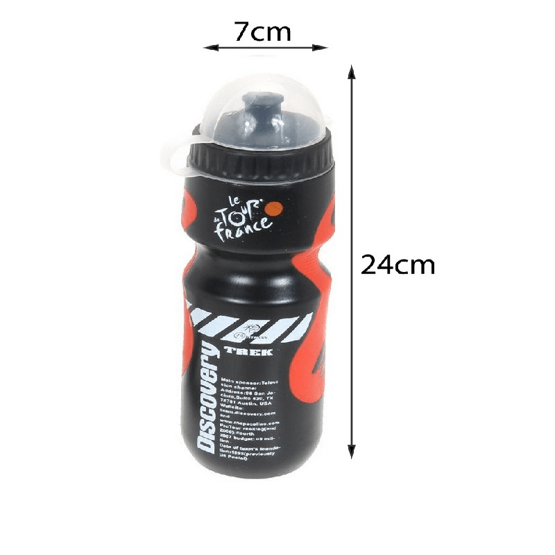 Bicycle Water Drink Bottle With Portable Holder Cage
